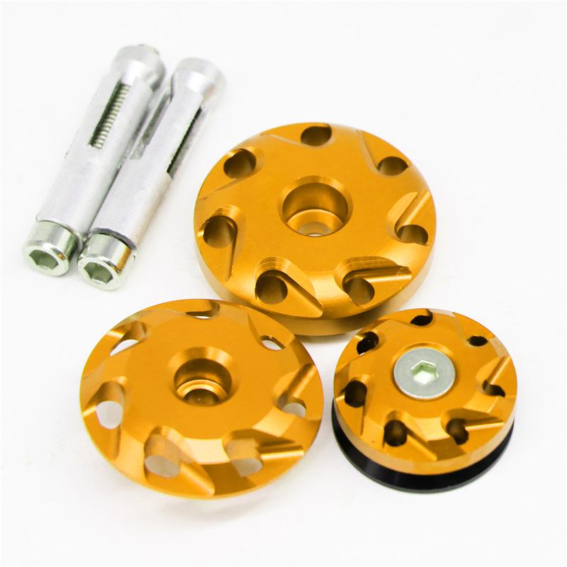 Motorcycle Aluminum Fairing Bolts Frame Hole Caps Screws For Kawasaki Z1000 10-16 Z1000SX 11-15 Gold