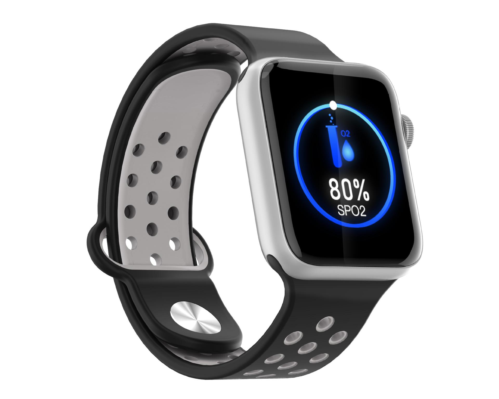 M33 Full Touch Smart Bracelet Health Monitoring Fitness Tracker Waterproof Smartwatch Sport Smart Watch silver gray