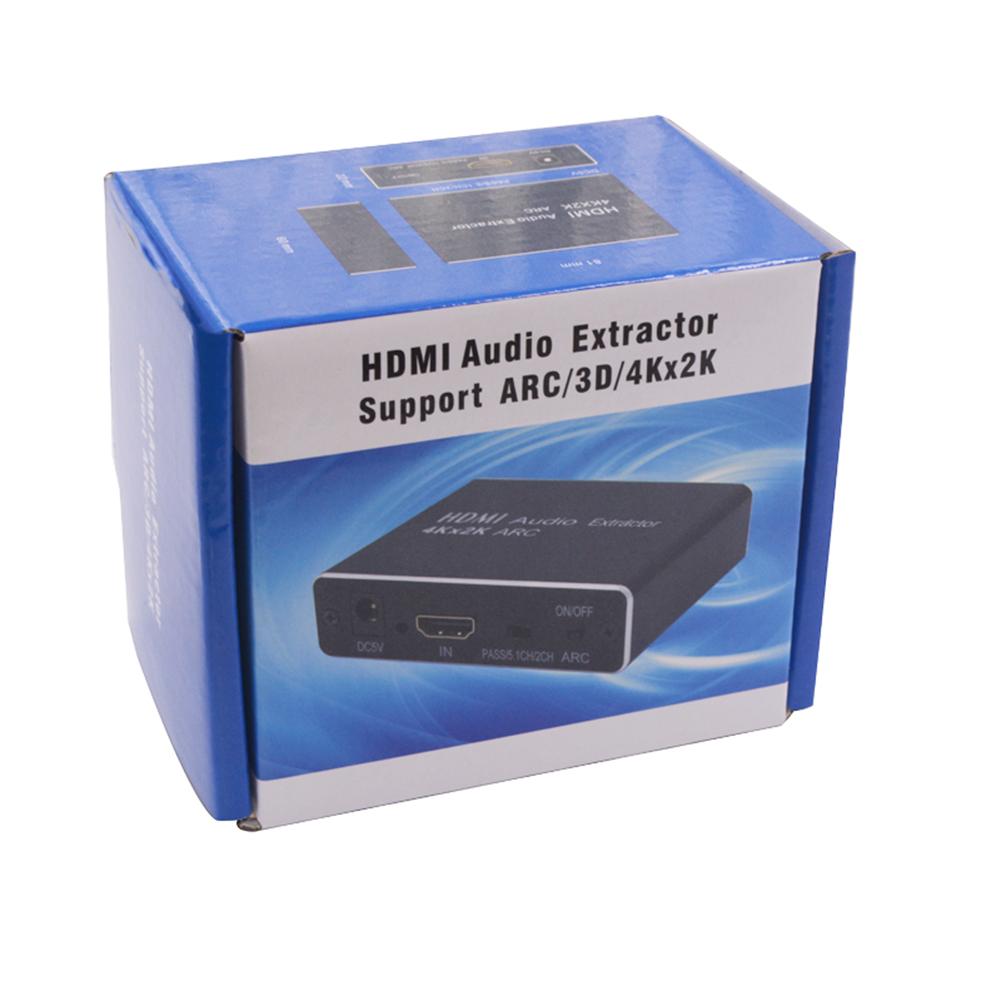 Black HDMI Audio Splitter Converter Adapter Supports ARC/3D/4Kx2K black