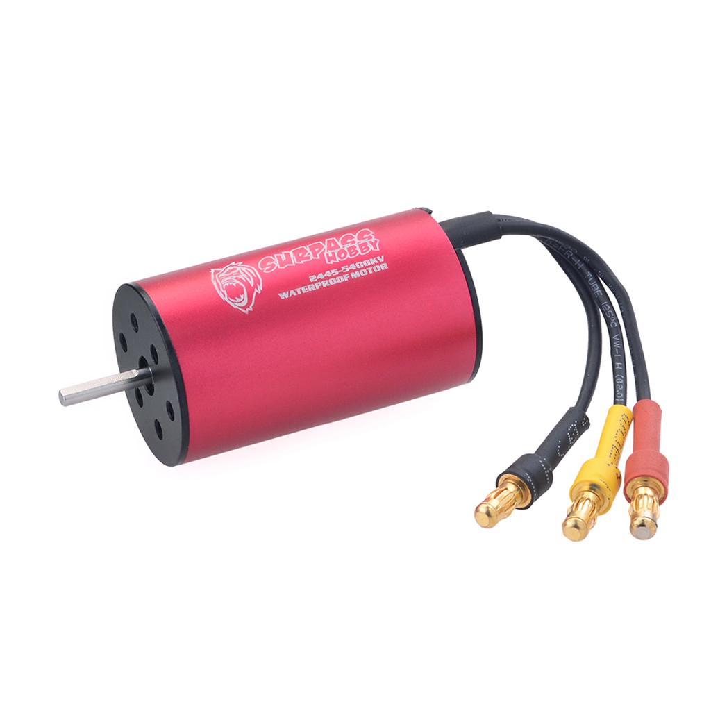 Surpass Hobby 2445 3000KV/5400KV Kk Series Brushless Waterproof Motor for 1/16 Rc Car red
