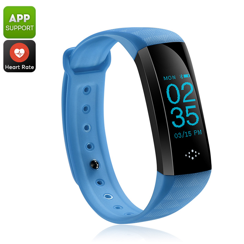 Fitness Tracker Bracelet (Blue)