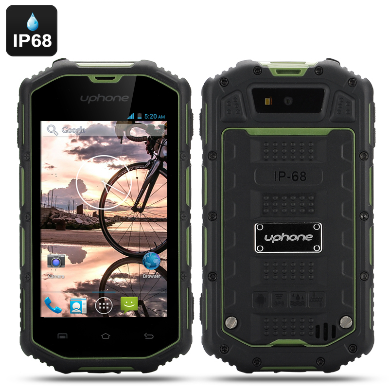 Uphone U5A Waterproof Rugged Phone (Green)