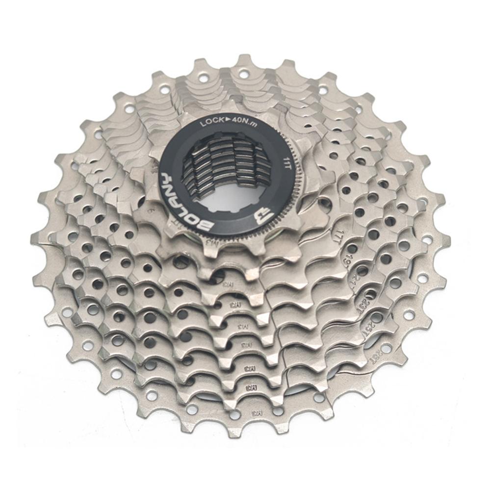 Professional MTB Bike Freewheel 9 Speed 28T Cassette Sprocket  Steel color