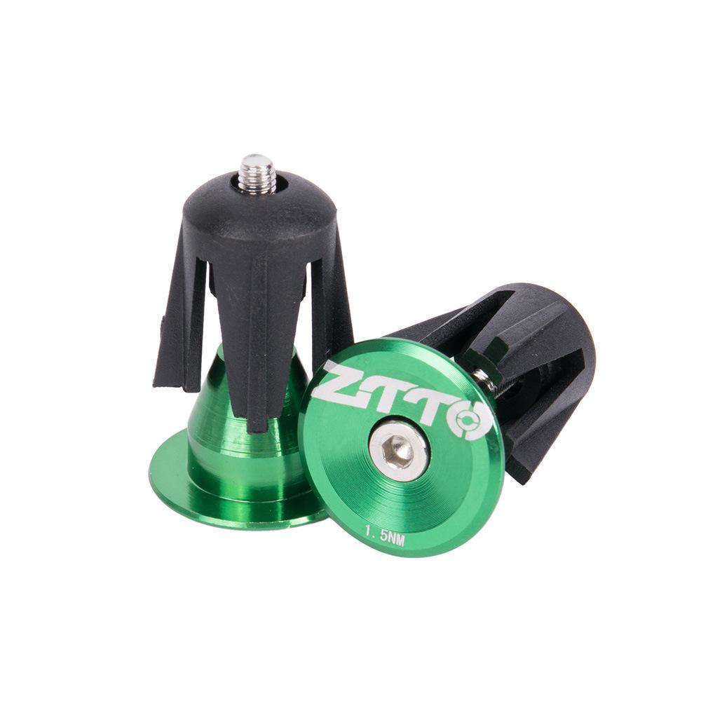 Bicycle Handle Plug Bicycle Aluminum Alloy CNC Handlebar Plug Sleeve Plug Handlebar Plug 24MM green