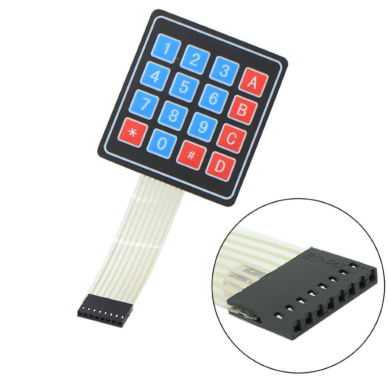 10 Pcs 16 Key 4 x 4 Membrane Switch Keypad Keyboard for Arduino Smart Car 16 keys