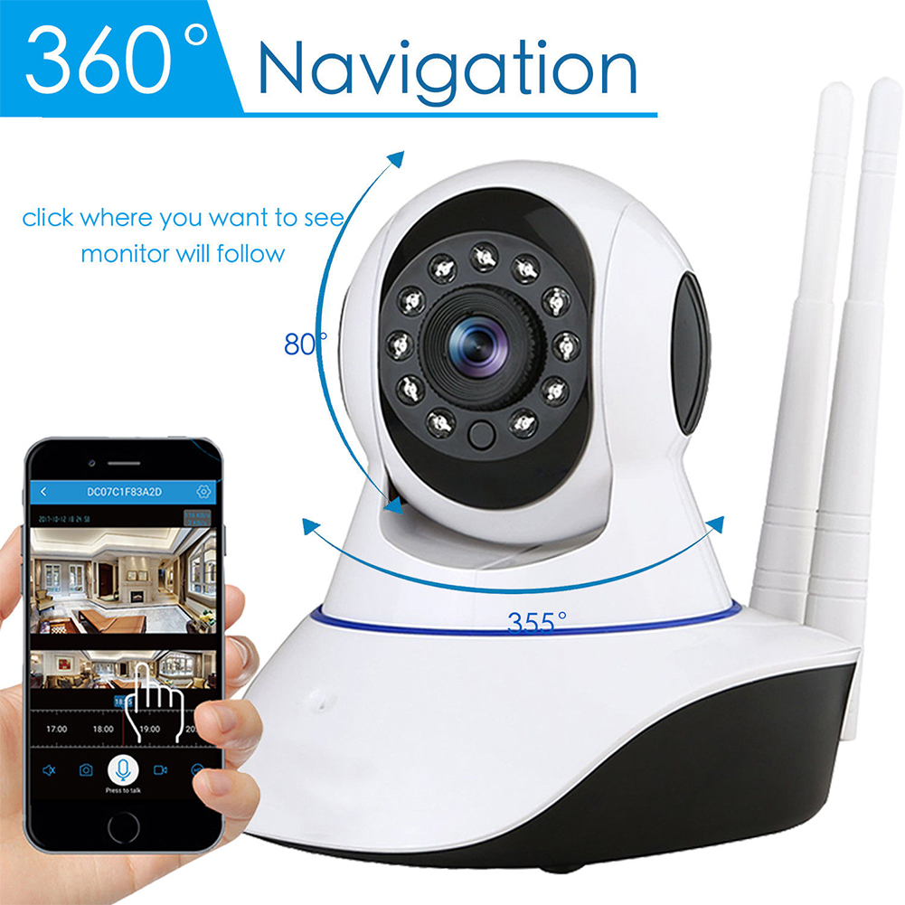 US Plug Wireless 1080P CCTV IP Camera