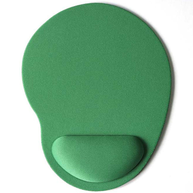 Computer Mouse Pad Solid Color Wrist Protection Anti-slip Pad  green