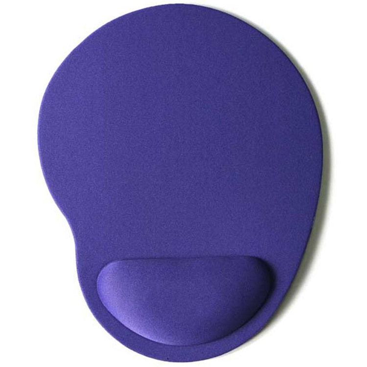 Computer Mouse Pad Solid Color Wrist Protection Anti-slip Pad  purple