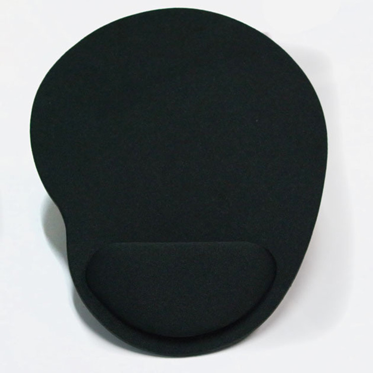 Computer Mouse Pad Solid Color Wrist Protection Anti-slip Pad  black