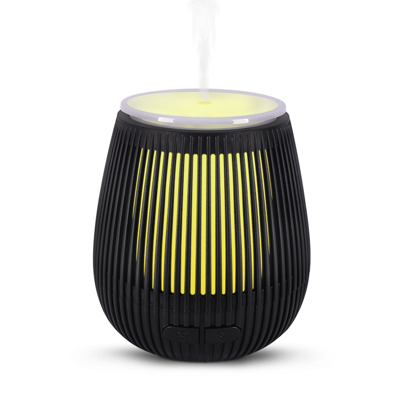 100ML Aromatherapy Humidifier Remote Control Vaporizer Ultrasonic Air Moistener Essential Oil Diffuser Aroma Lamp Electric Therapy Diffuser black