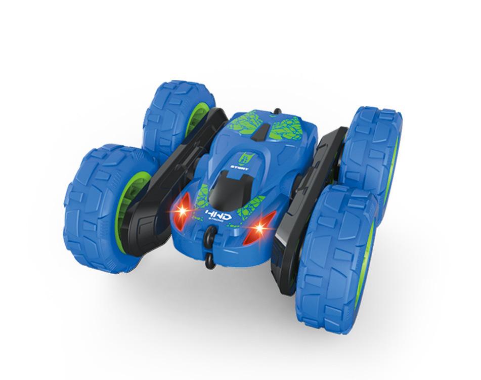 2.4G 4CH Stunt RC Car Drift Deformation Rock Crawler 360 Degree Flip Kid Toy Gift blue