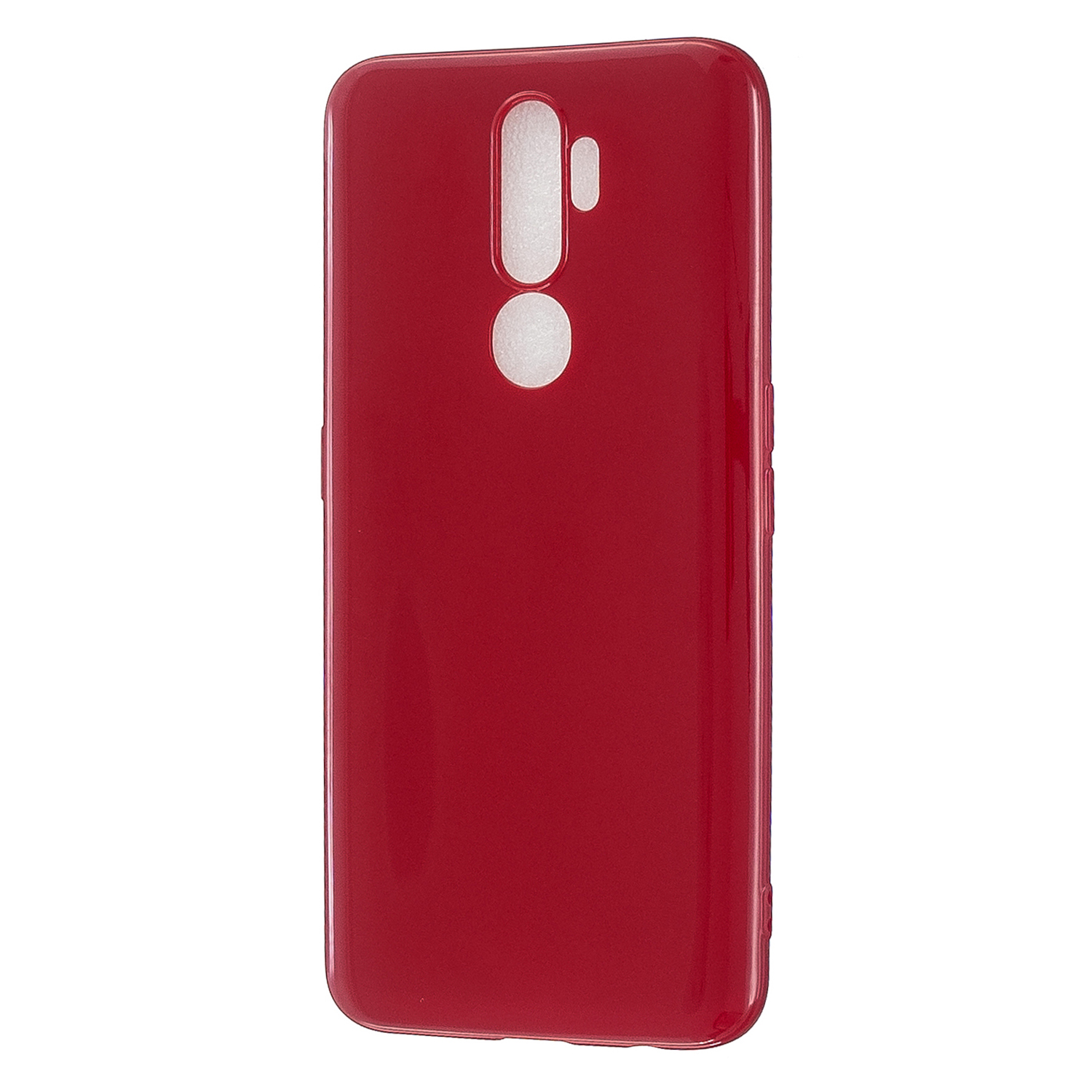 For OPPO A5/A3S/A9 2020 Cellphone Cover Soft Touch Anti-scratch Shockproof TPU Mobile Phone Case  Rose red