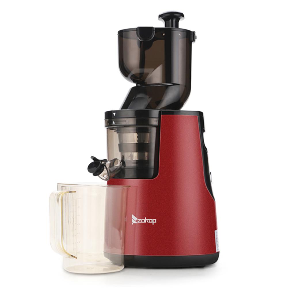[US Direct] Original ZOKOP  Slow  Juicer Set Alw-j18 120v 150w 1000ml Juicer Jar 1500ml Pulp Collector red