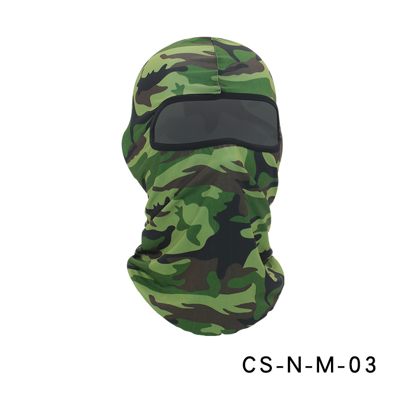 Camouflage Riding Fishing Mask Camouflage Headscarf Fishing Cycling Fishing Bike Headband Tube Scarf Mask CS-N-M-03 Camouflage Army Green_One size
