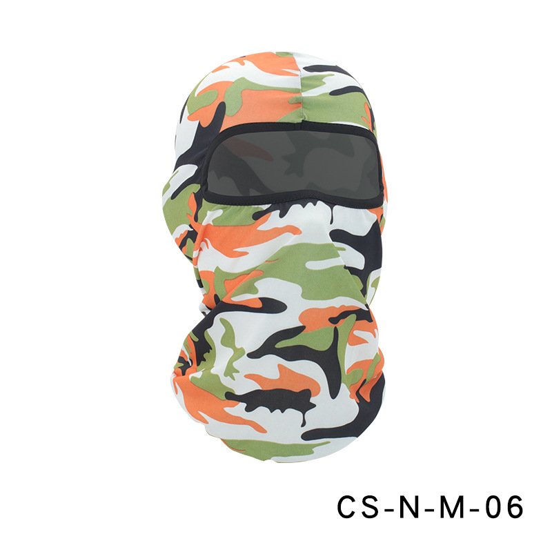 Camouflage Riding Fishing Mask Camouflage Headscarf Fishing Cycling Fishing Bike Headband Tube Scarf Mask CS-N-M-06 camouflage orange_One size
