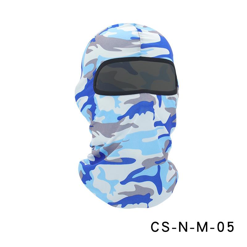 Camouflage Riding Fishing Mask Camouflage Headscarf Fishing Cycling Fishing Bike Headband Tube Scarf Mask CS-N-M-05 camouflage light blue_One size