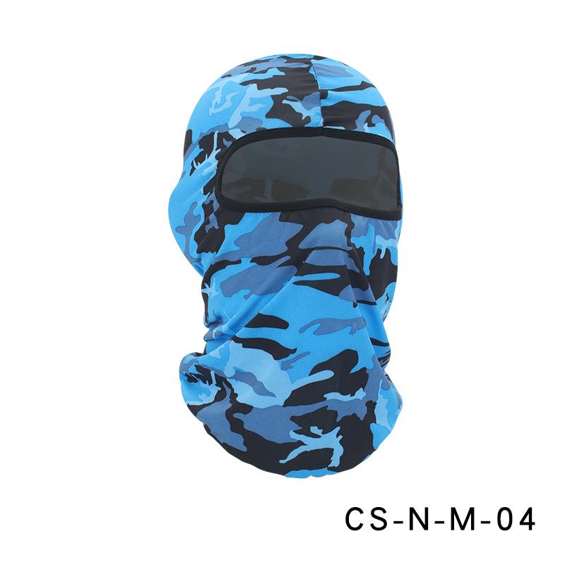 Camouflage Riding Fishing Mask Camouflage Headscarf Fishing Cycling Fishing Bike Headband Tube Scarf Mask CS-N-M-04 Camouflage Royal Blue_One size