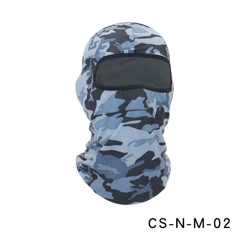 Camouflage Riding Fishing Mask Camouflage Headscarf Fishing Cycling Fishing Bike Headband Tube Scarf Mask CS-N-M-02 camouflage light gray_One size