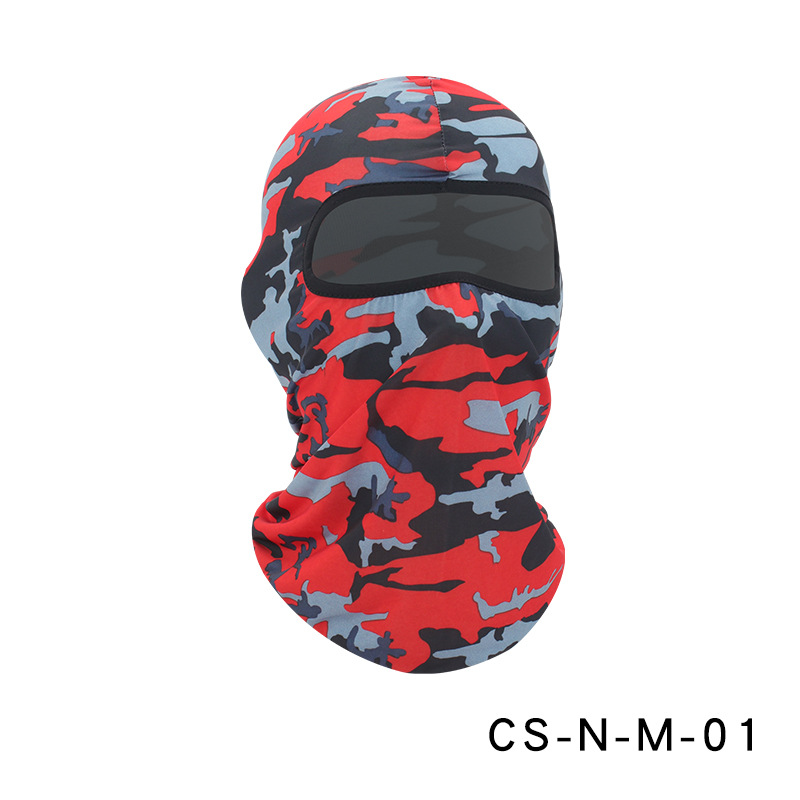 Camouflage Riding Fishing Mask Camouflage Headscarf Fishing Cycling Fishing Bike Headband Tube Scarf Mask CS-N-M-01 Camouflage Scarlet_One size