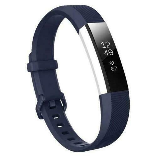 For Fitbit Alta/Alta HR Band Secure Strap Wristband Buckle Bracelet  Navy blue_S