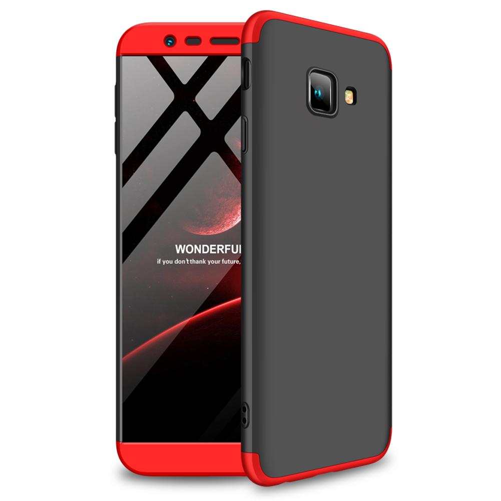 For Samsung J4 Plus/ J4 Prime 3 in 1 360 Degree Non-slip Shockproof Full Protective Case Red black red_Samsung J4 Plus/ J4 Prime