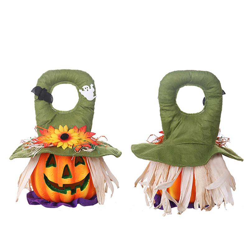 Foam Pumpkin Light with Handle for Halloween Decoration Props