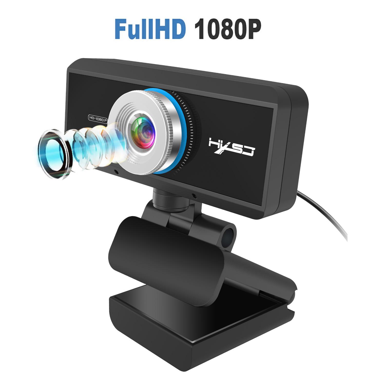 1080p Manual Focusing Computer Camera 360-degree Rotatable Video Conference Camera S4 black