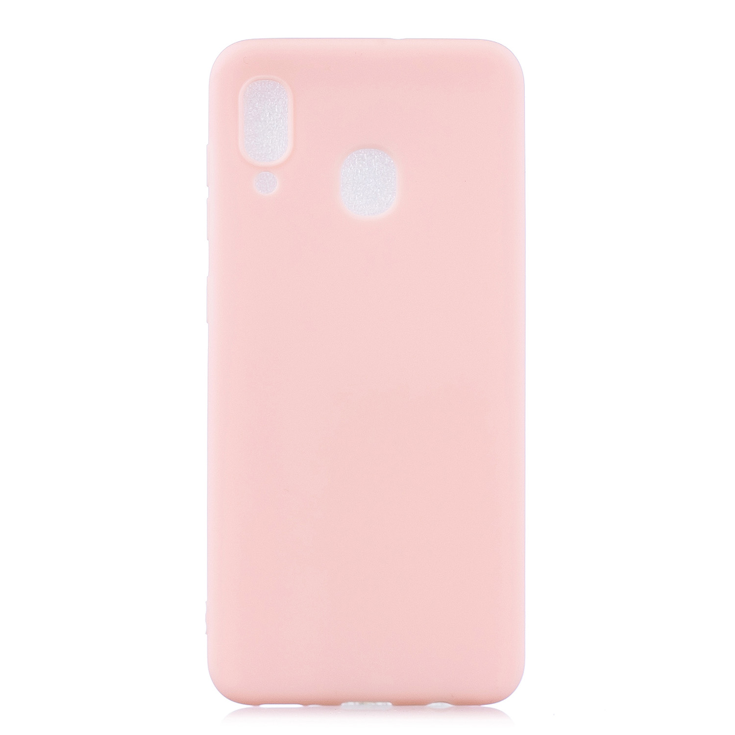 For HUAWEI Y9 2019 Lovely Candy Color Matte TPU Anti-scratch Non-slip Protective Cover Back Case Light pink