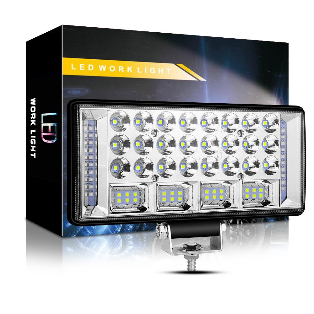 Car LED Work Light Combo Beam 12 24V Spot Flood LED Driving Light Yellow+white+yellow