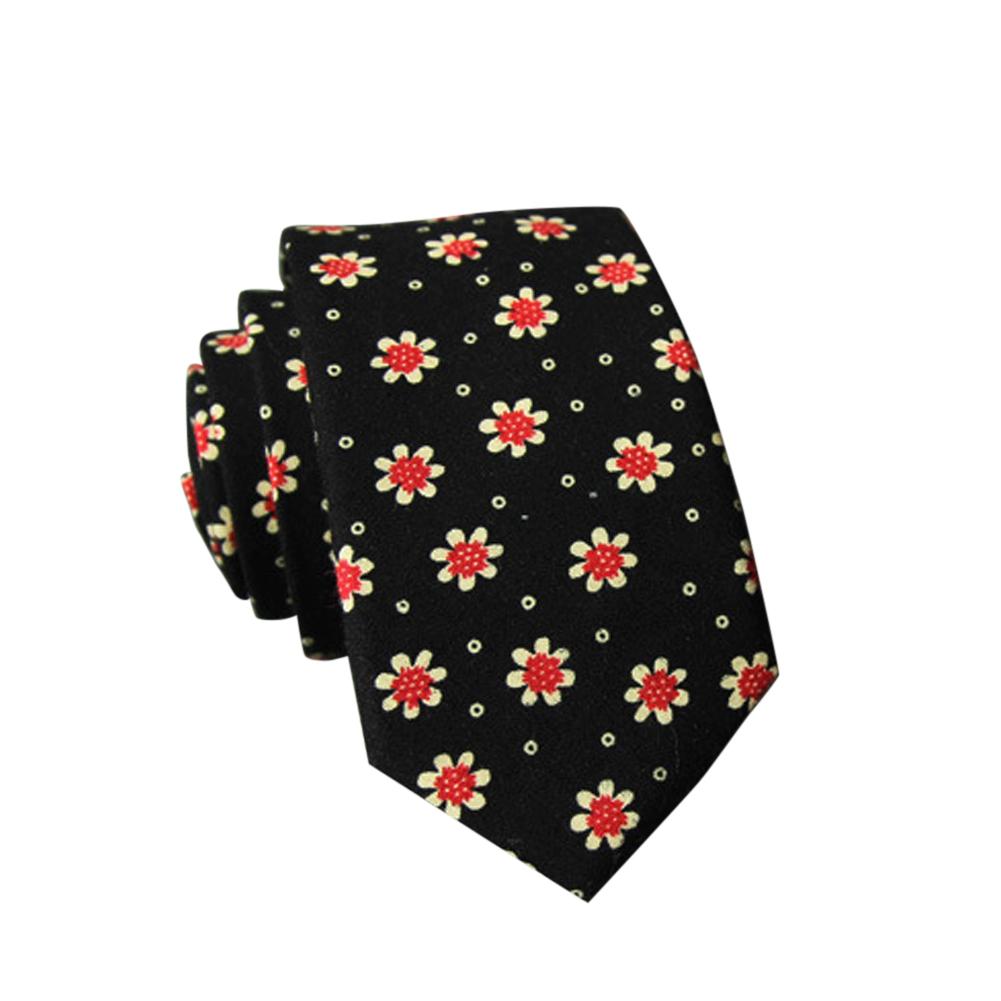 Men's Wedding Tie Floral Cotton Necktie Birthday Gifts for Man Wedding Party Business Cotton printing-016