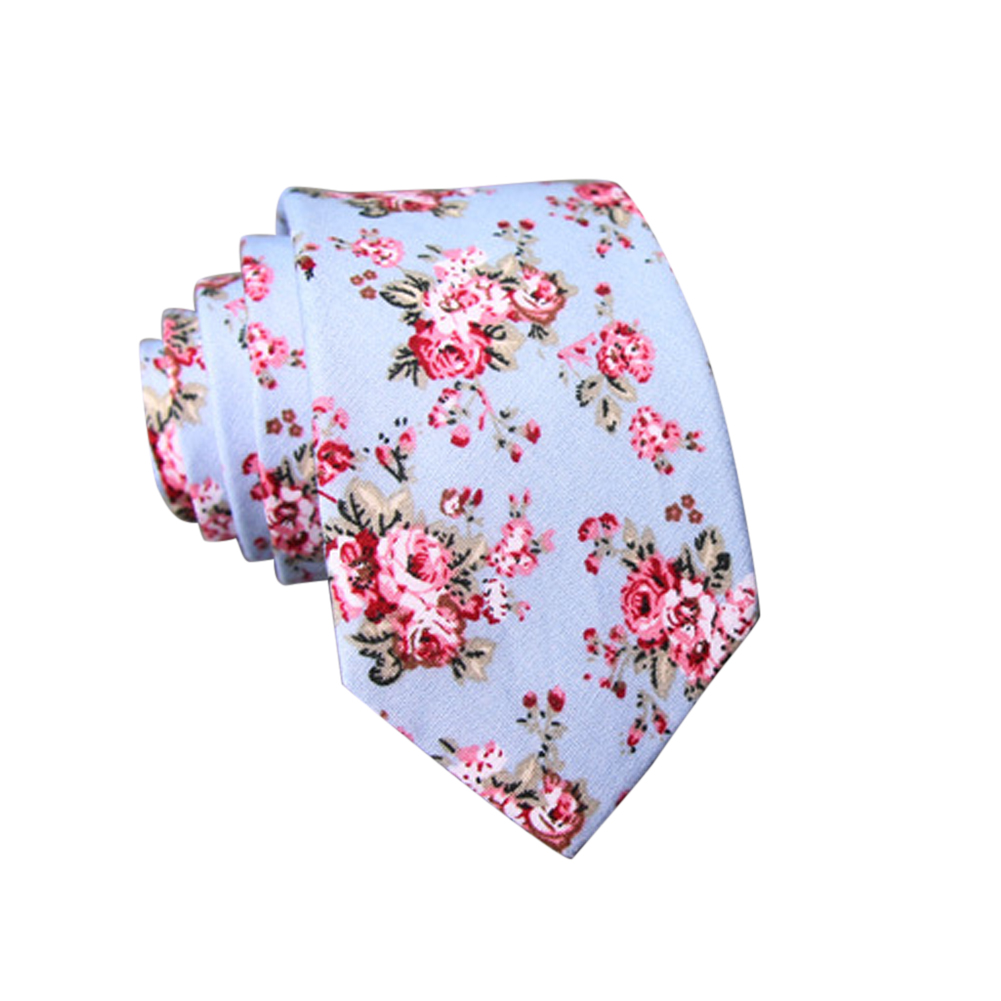 Men's Wedding Tie Floral Cotton Necktie Birthday Gifts for Man Wedding Party Business Cotton printing-011