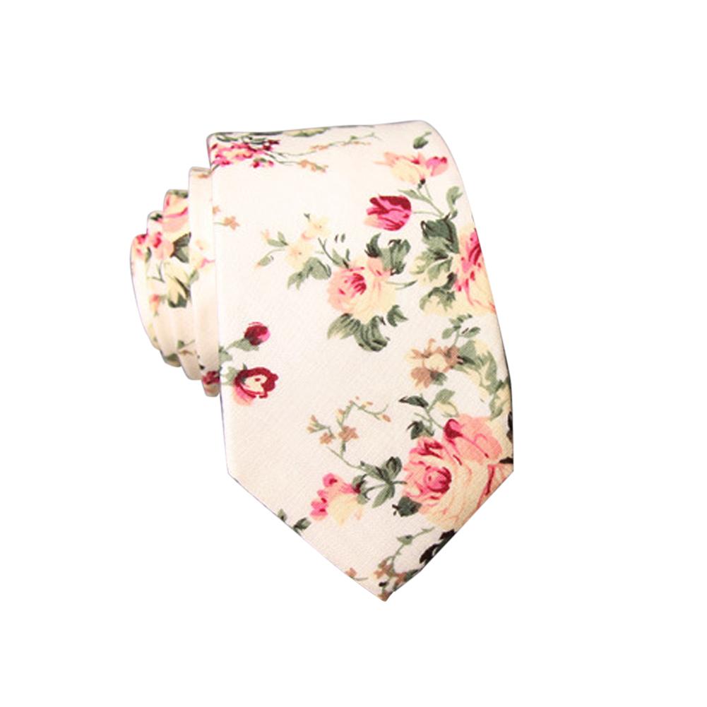 Men's Wedding Tie Floral Cotton Necktie Birthday Gifts for Man Wedding Party Business Cotton printing-014