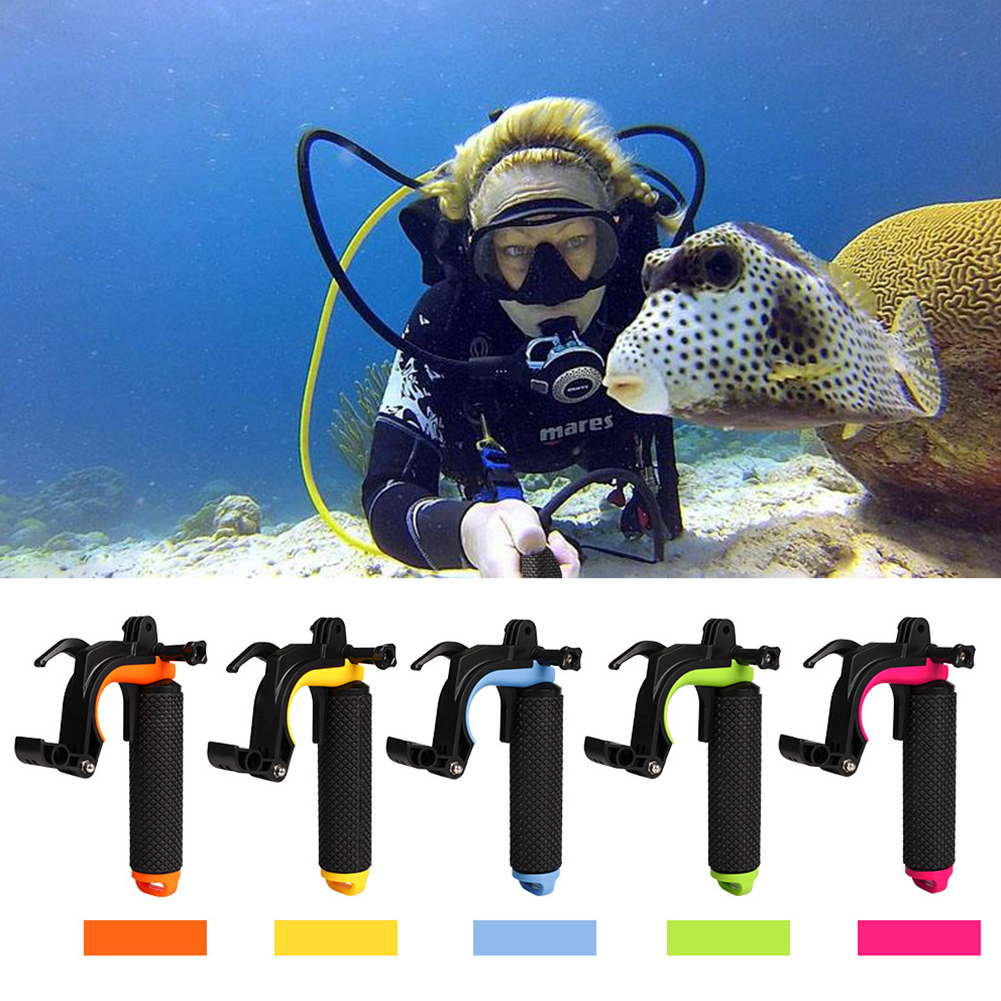 Motion Camera Flooting Stick GoPro Accessories HERO 4/3 with Shutter Trigger 3-in-1 Multi-function Flooting Stick Orange
