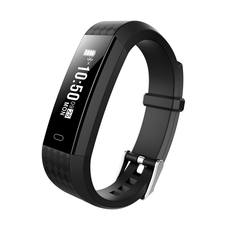 ZY68 Smart Bracelet Bluetooth IP67 Waterproof Heart Rate Sleep Monitoring Pedometer Fitness Tracker Sport Wristband black