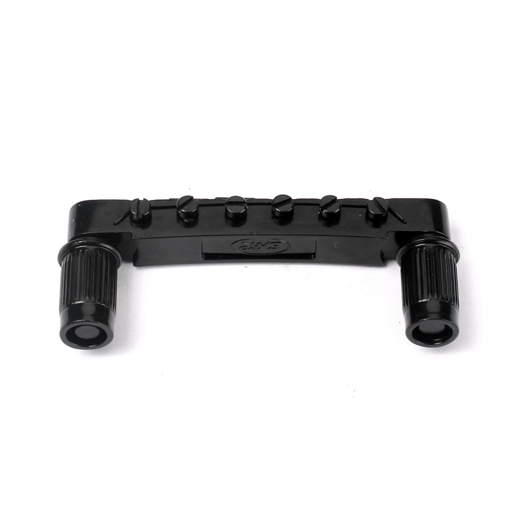 Electric Guitar Bridge Tune-O-Matic Bridge for LP Style Guitar Parts Accessories black