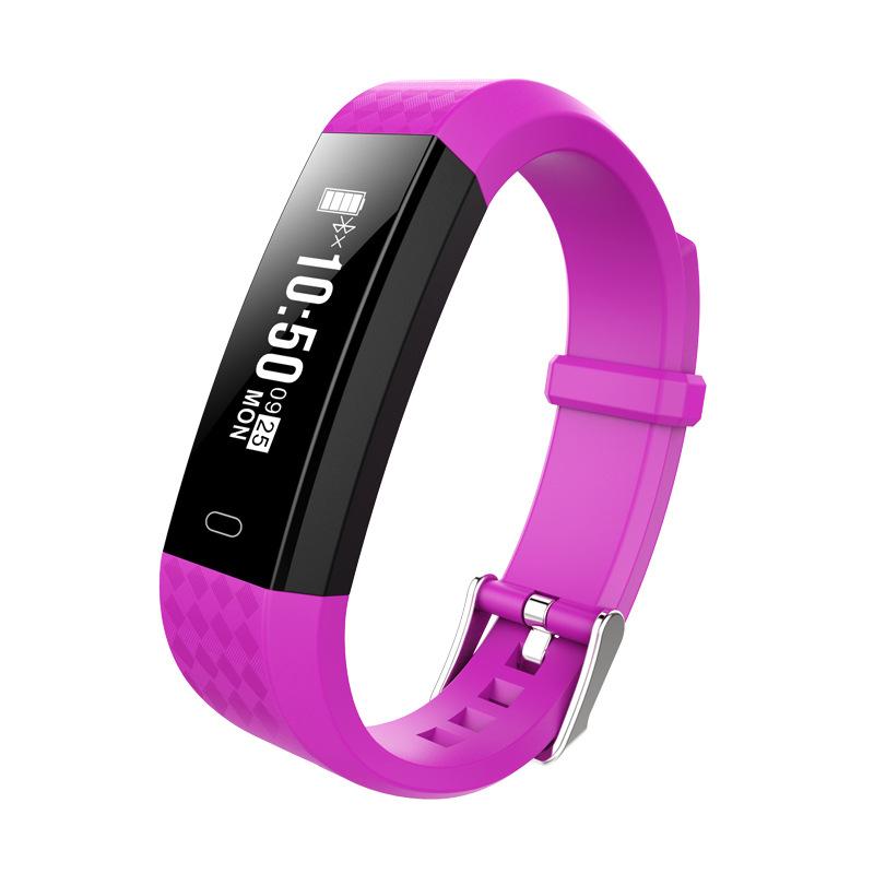 ZY68 Smart Bracelet Bluetooth IP67 Waterproof Heart Rate Sleep Monitoring Pedometer Fitness Tracker Sport Wristband purple