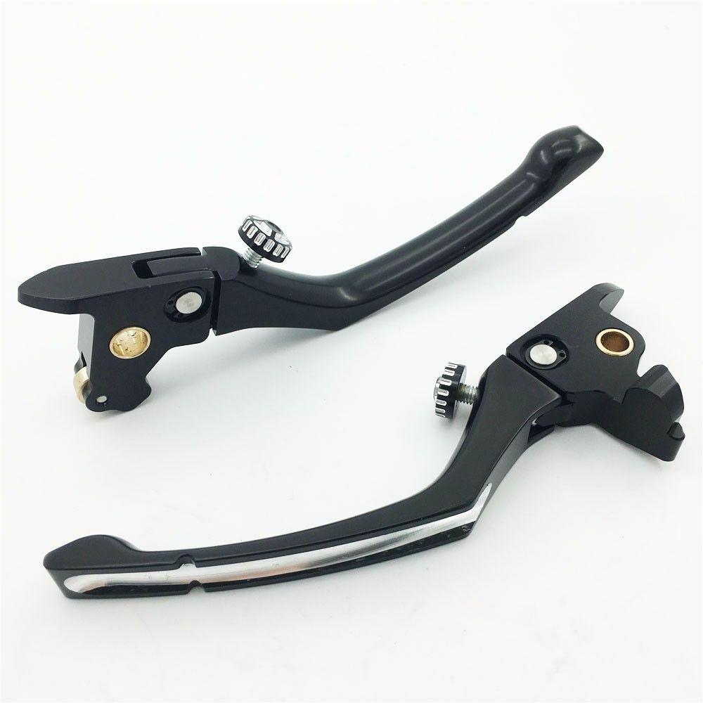 1 pair Contrast Cut Regulator Clutch & Brake Lever for  Touring Parts 14-16 black