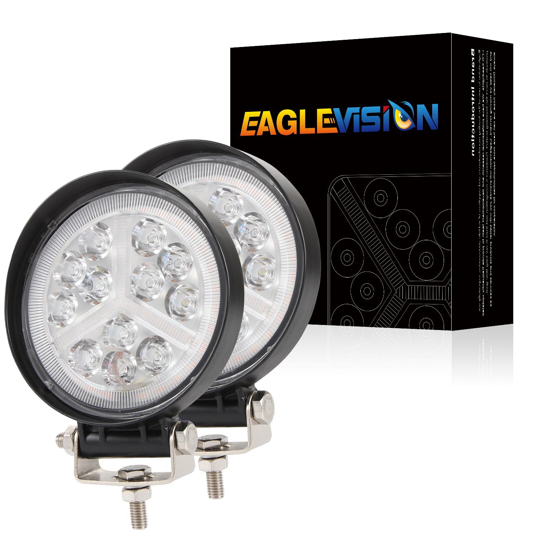 2pcs Car 12V LED Work Spot Lights Spotlight Lamp 4x4 Van ATV Offroad SUV Truck;