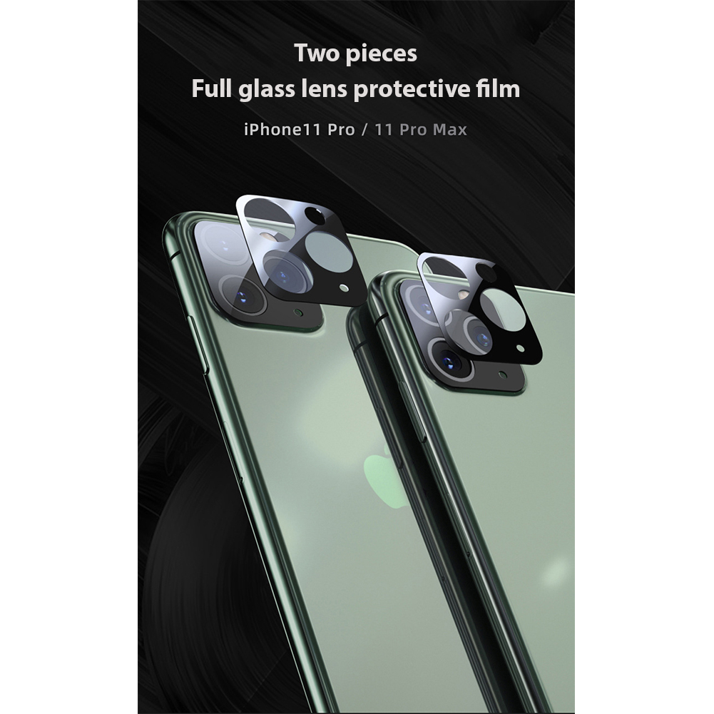 2pcs Camera Lens Film Screen Protector Glass Rear Lens Protective Glass Film for 11 Pro Max 11 11 Pro Two pieces - all glass - lens film_iPhone11-6.1 inch