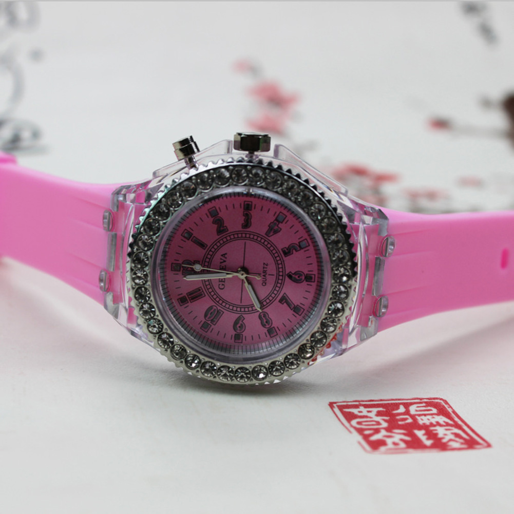 Fashion LED Light Cool Student Casual Sports Luminous Silicone Watches Clock