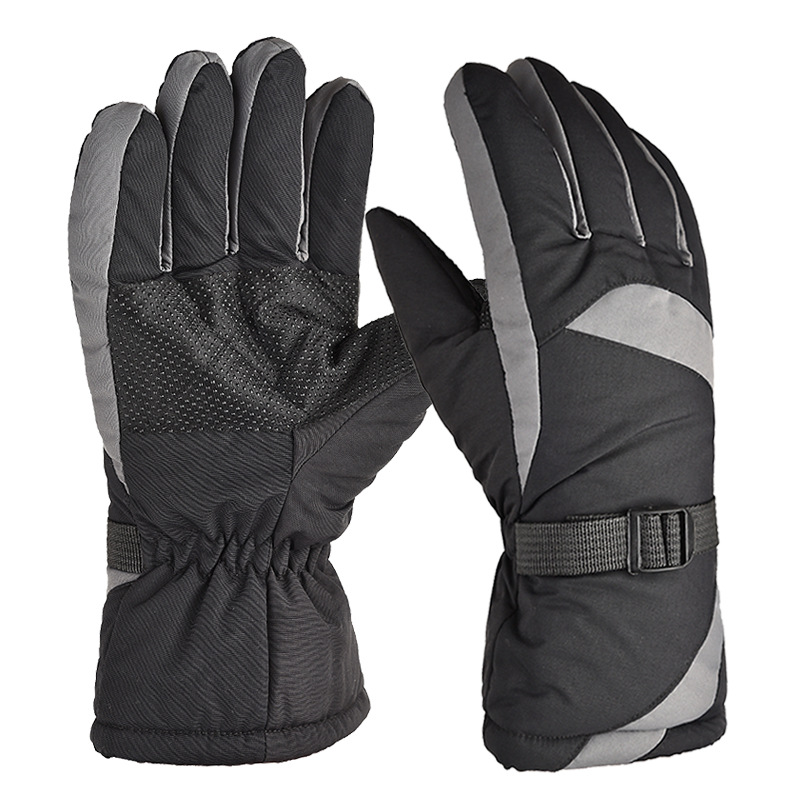 Outdoor Gloves Thickening Waterproof Autumn Winter Windproof Warm Non-slip Outdoor Bicycle Riding Motorcycle Gloves gray_One size