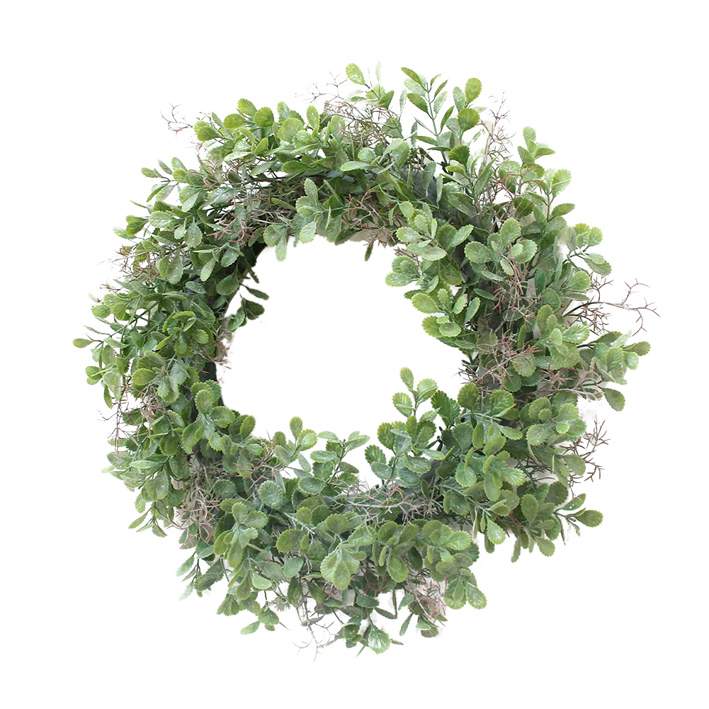 12.5inch(32CM) Green Corallina Officinalis Shape Wreath for Door Wall Window Party Decor green