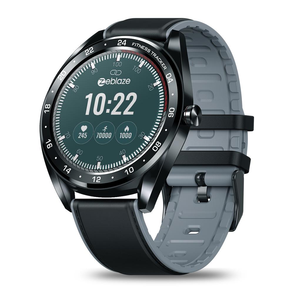 Original ZEBLAZE NEO Color Touch Smart Watch Heart Rate Blood Pressure Monitor Female Health Waterproof Watch black