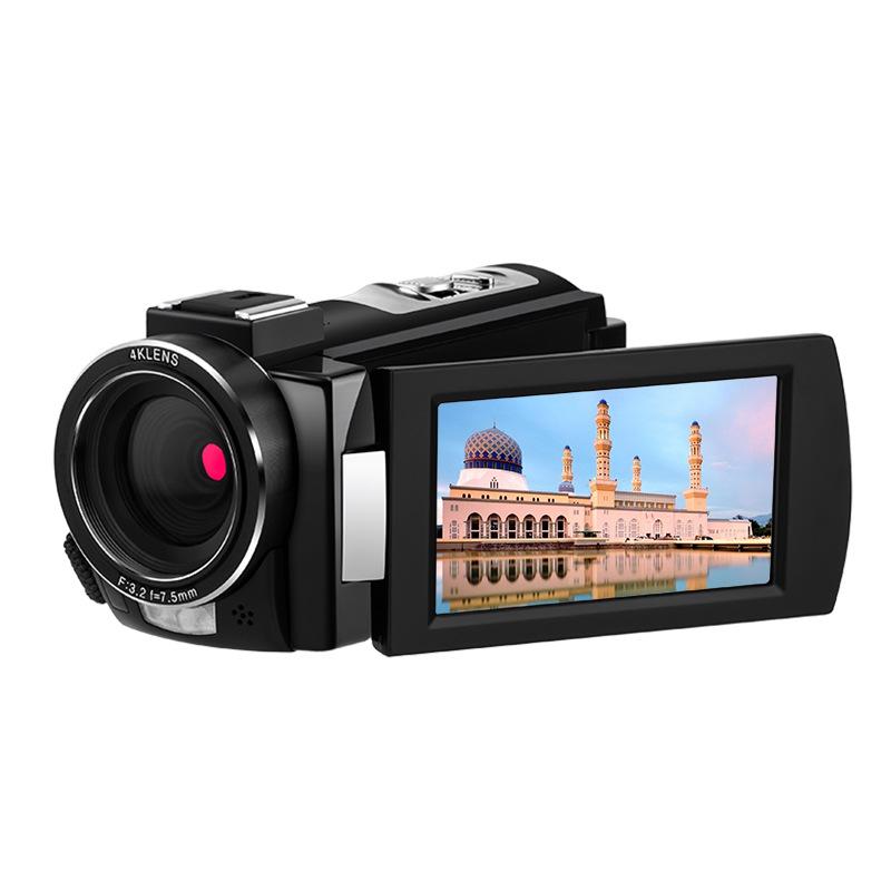 4K Full HD Digital Camera HD DV Night Vision WIFI MIC Camera black