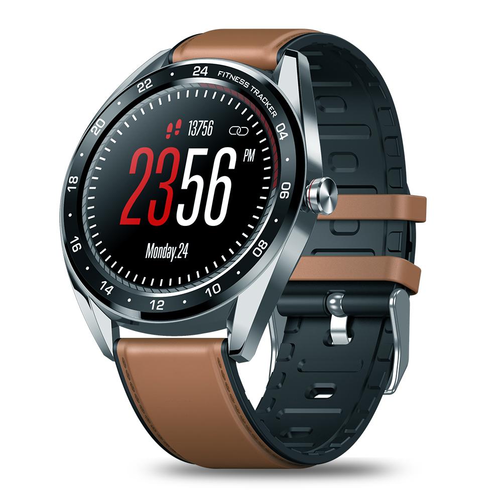Zeblaze NEO Color Touch Smart Watch Heart Rate Blood Pressure Monitor Female Health Waterproof Watch brown