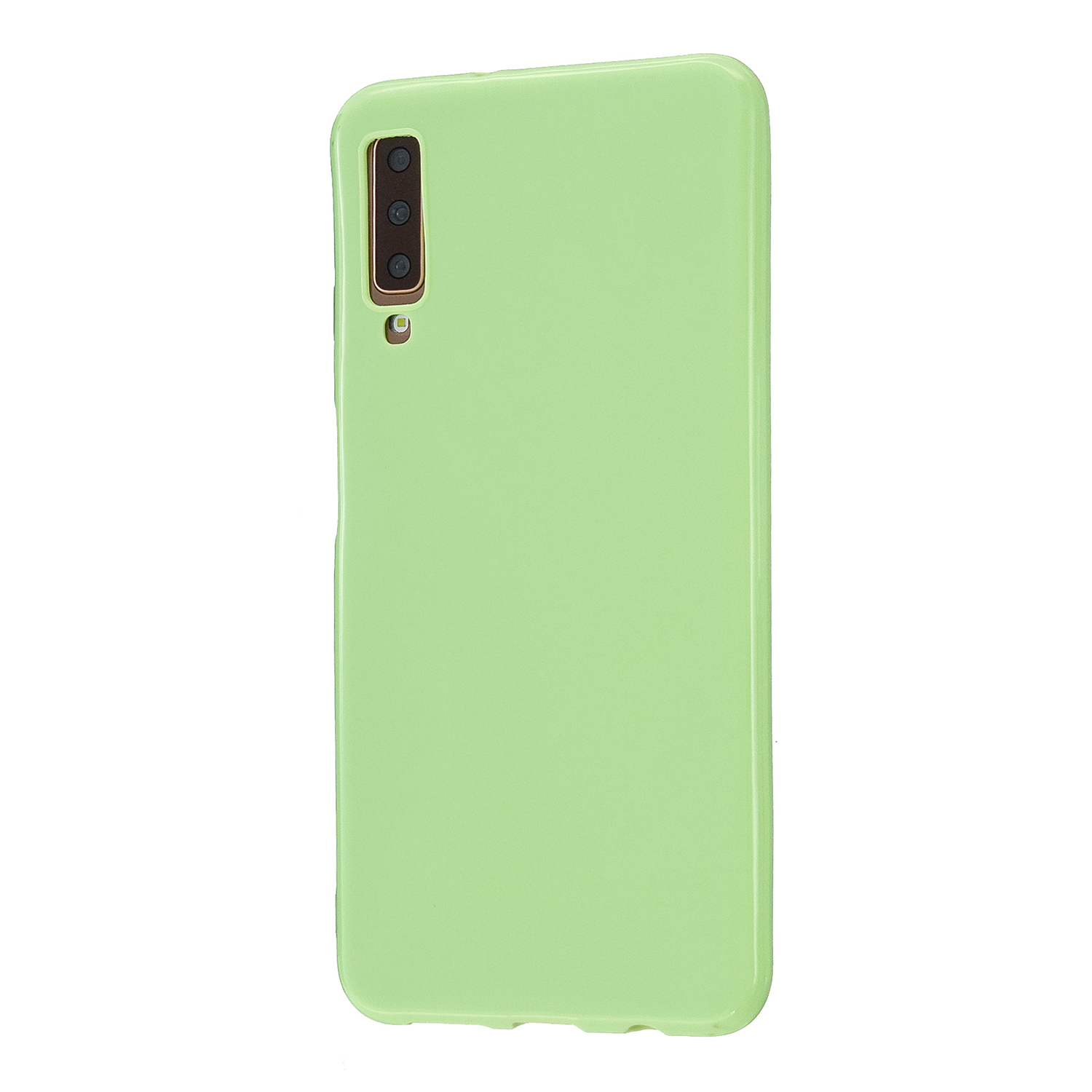 For Samsung A7 2018/A920 Smartphone Case Soft TPU Precise Cutouts Anti-slip Overal Protection Cellphone Cover  Fluorescent green