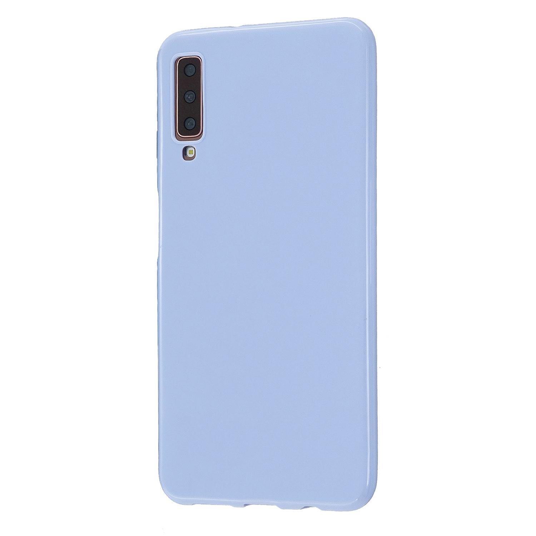 For Samsung A7 2018/A920 Smartphone Case Soft TPU Precise Cutouts Anti-slip Overal Protection Cellphone Cover  Taro purple