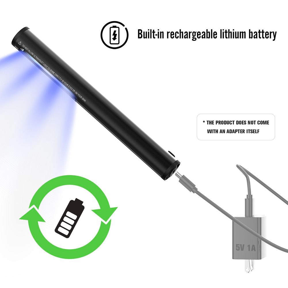 Usb Rechargeable Ultraviolet Disinfection And Sterilization Stick USB charging