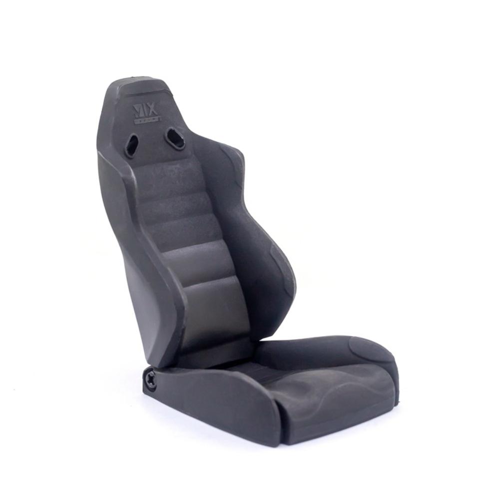 Simulation Chair Mini Cab Seat Model Car Driving Seat for 1/10 trx4 scx10 RC Climbing Car Decorative Accessories A section-black