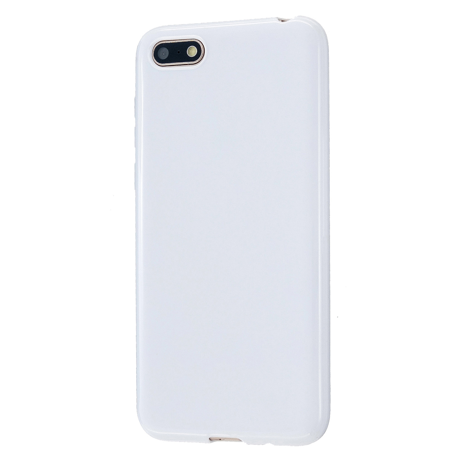 For HUAWEI Y5 2018/2019 TPU Phone Case Simple Profile Delicate Finish Cellphone Cover Full Body Protection Milk white